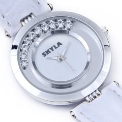 Skyla Jewels White Diamante Ladies watch