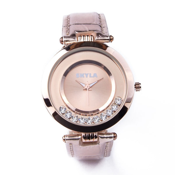 Skyla Jewels Rose Gold Diamante Ladies watch