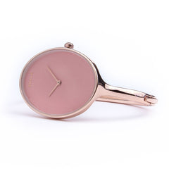 Skyla Jewels Ladies Oval Rose Gold Bangle Watch with Rose Gold Dial