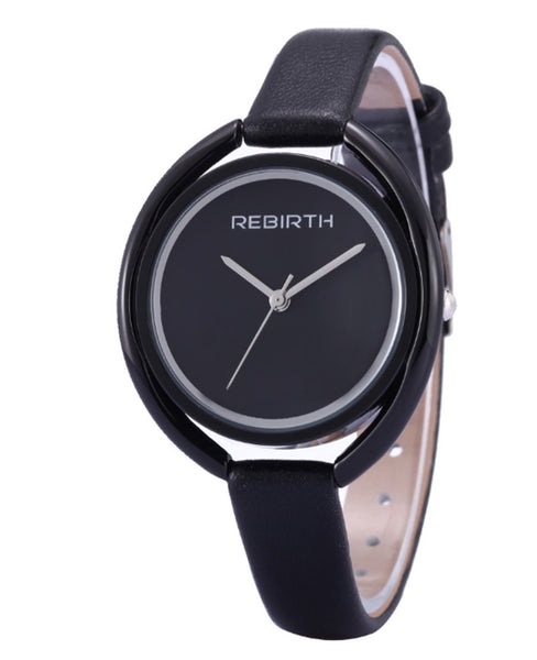 Rebirth Luxury Ladies Watch - Black on Black