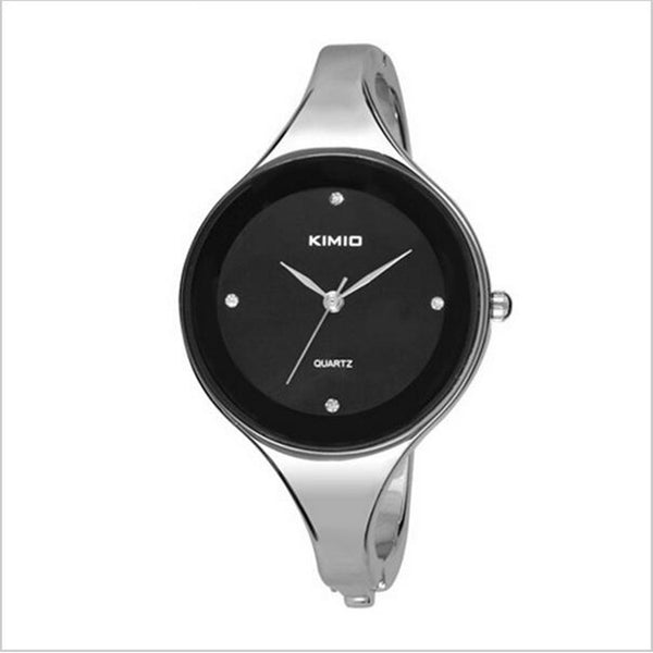 Kimio Woman Quartz Dress Watch - Black.