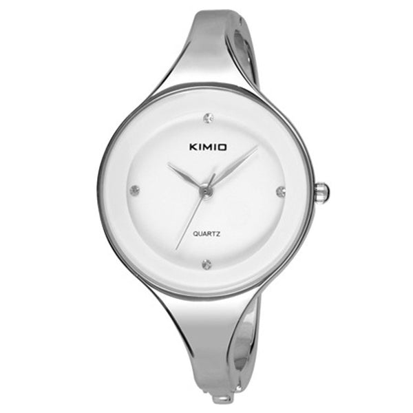 Kimio Woman Quartz Dress Watch - White.
