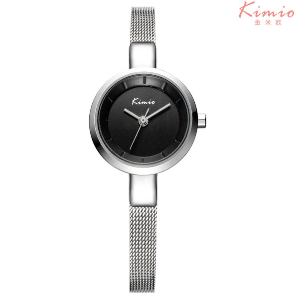 KIMIO Luxury Fashion Ladies Quartz Wristwatch - Alloy Black