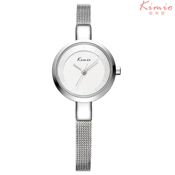 KIMIO Luxury Fashion Ladies Quartz Wristwatch - Alloy White