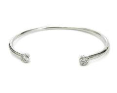 Double Diamante open Bangle