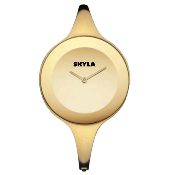 Skyla Jewels Ladies Bangle watch - Gold