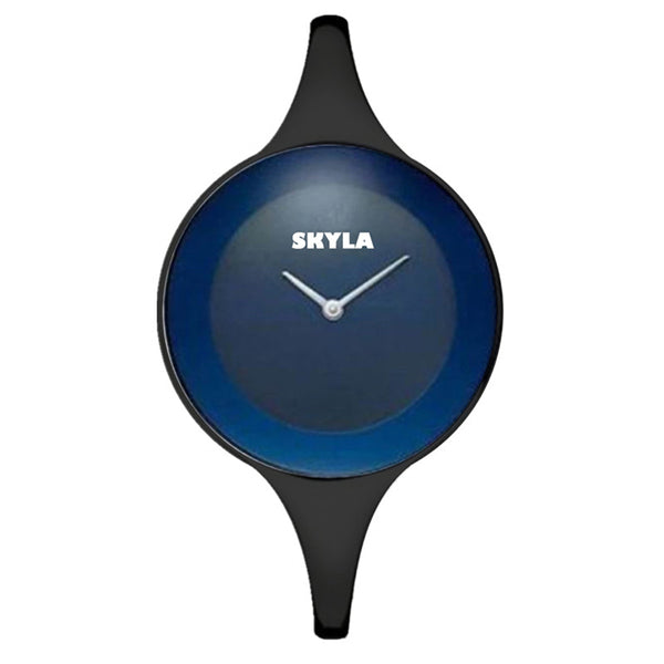 Skyla Jewels Ladies Bangle watch - Blue Face