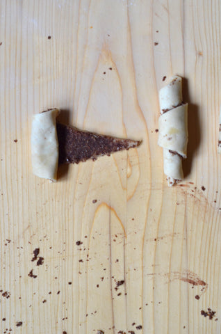 Rugelach - Roll each wedge