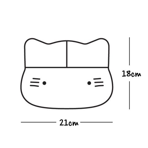 Dimensions for Cat Stickie Plate