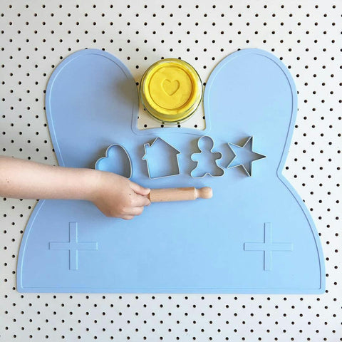 Happy Hands Happy Heart playdough and We Might Be Tiny placemat
