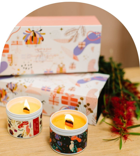 Light & Go Designs – Wood Wick Soy Candle