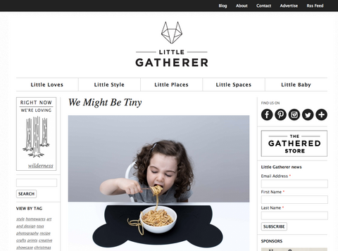 We Might Be Tiny - Little Gatherer feature