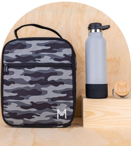 MontiiCo – Large Lunch Bag and Bottle Set - Combat