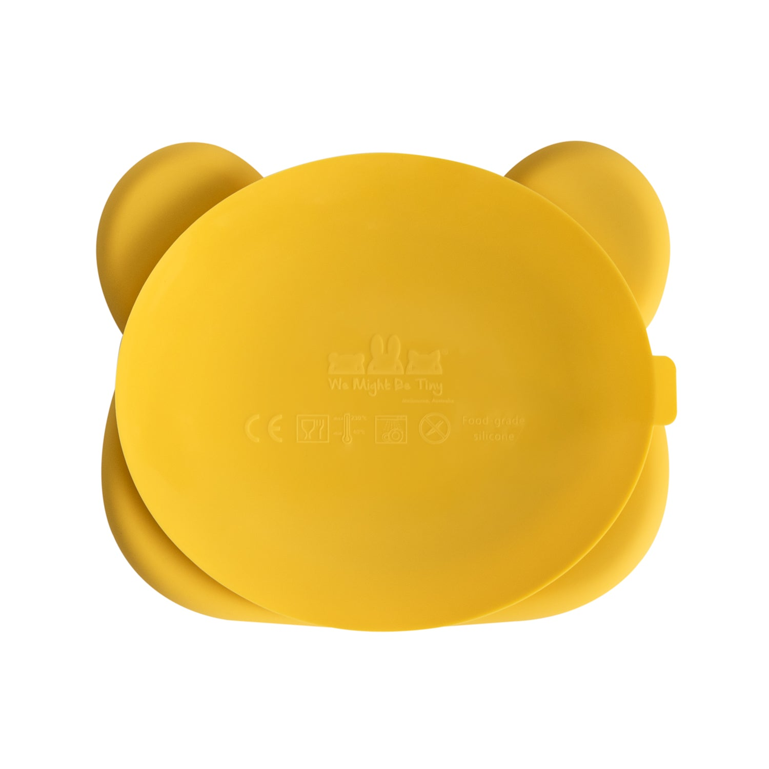Bear Stickie™ Plate - Yellow