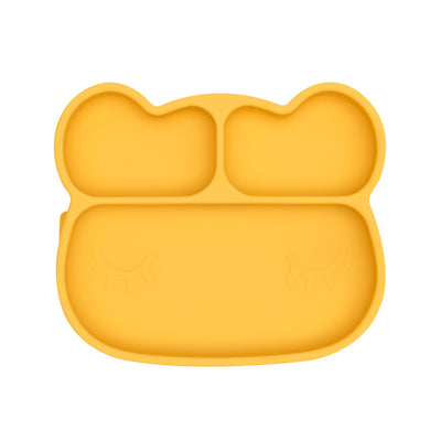 Bear Stickie Plate - Yellow