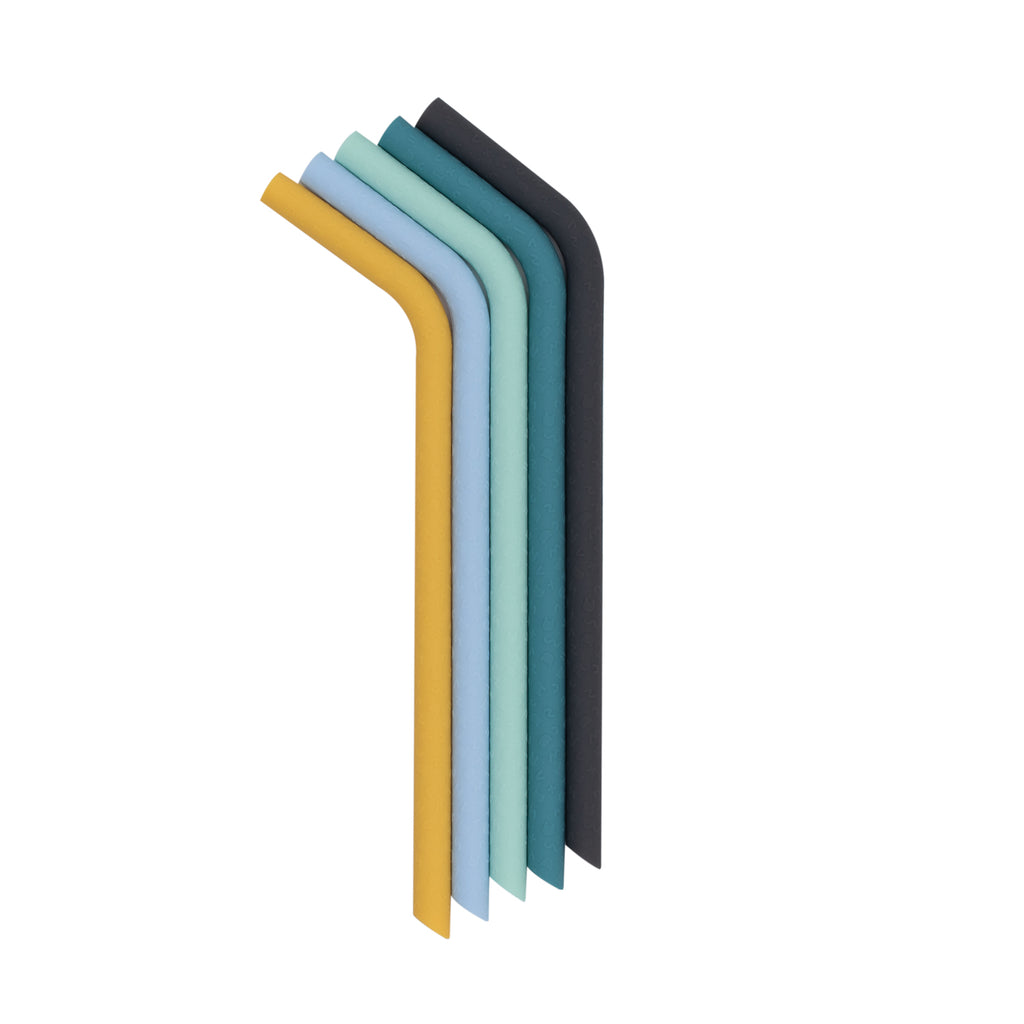 Bendie Straws in Blues and Yellows