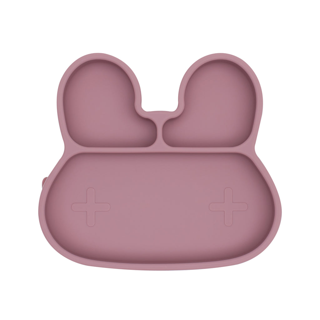 Bunny Stickie Plate - Dusty Rose