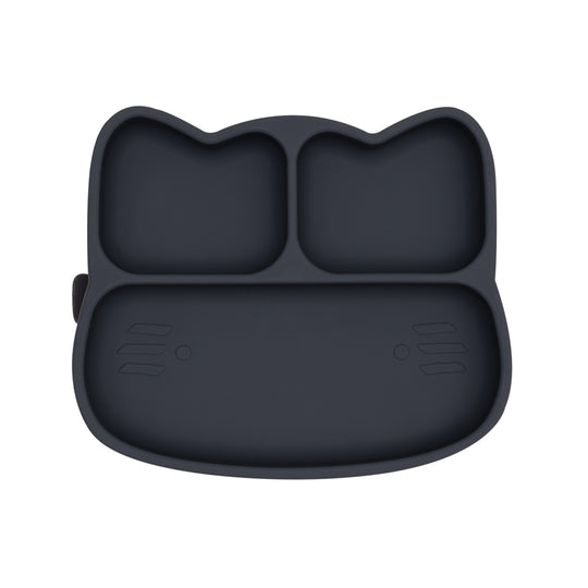 Cat Stickie™ Plate - Charcoal