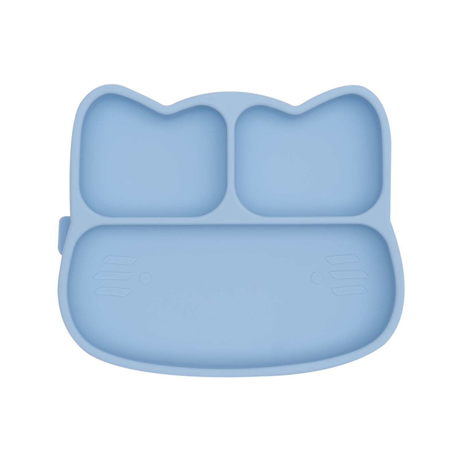 Cat Stickie Plate - Powder Blue