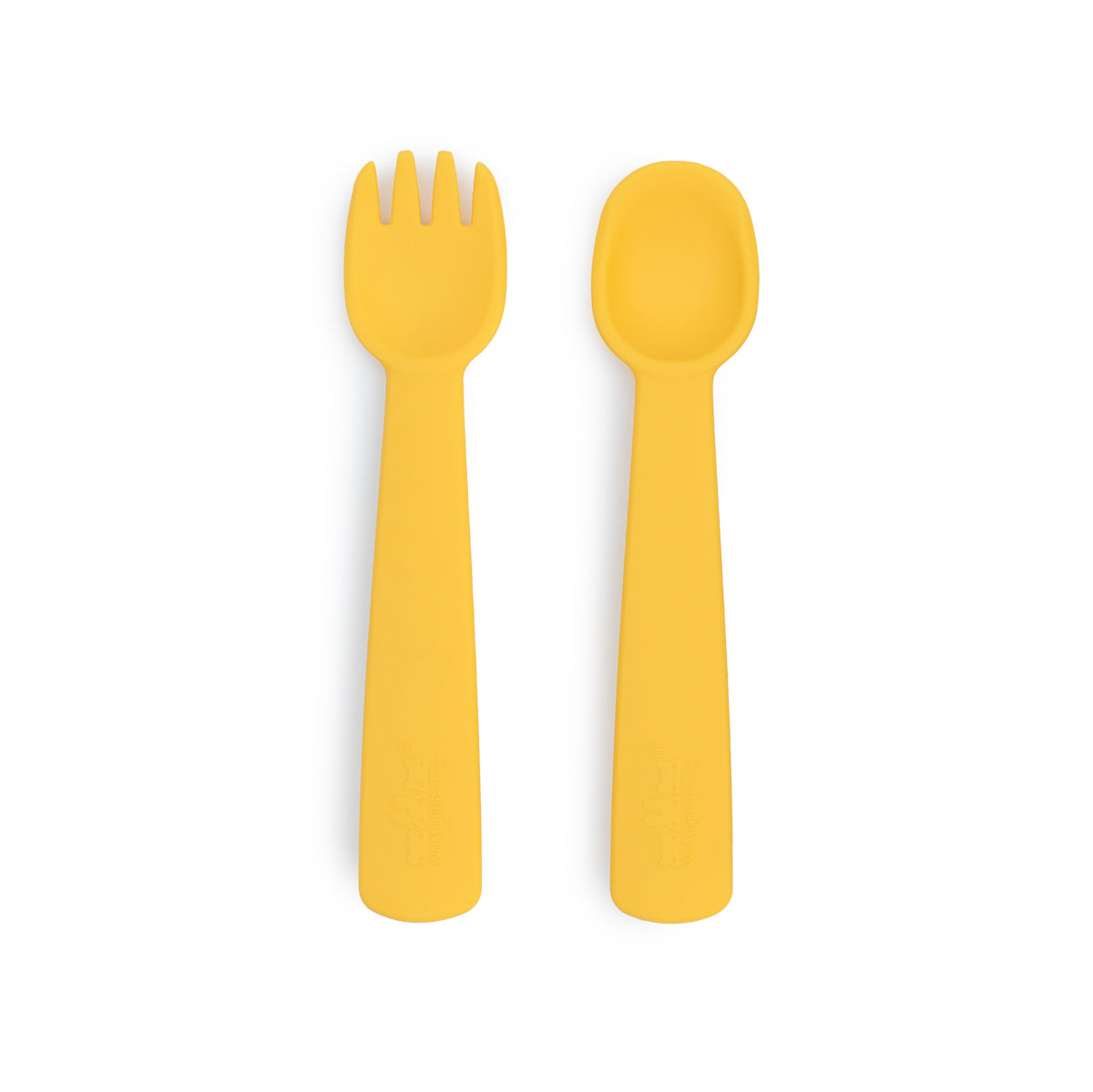Feedie Fork & Spoon Set - Yellow