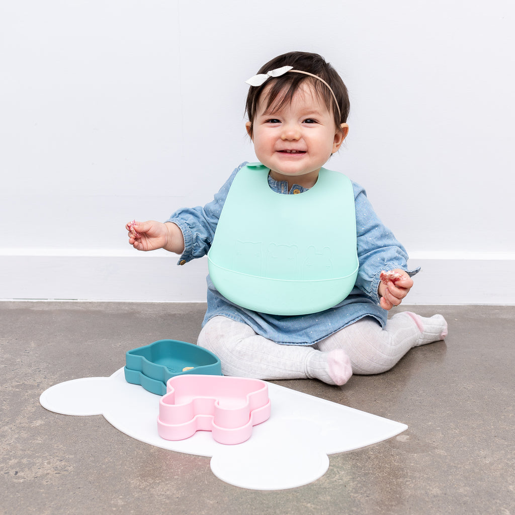 We Might Be Tiny silicone bib - Mint