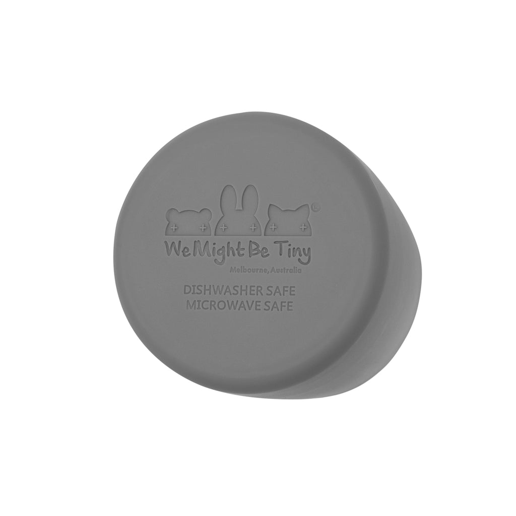 Bottom of grey silicone cup