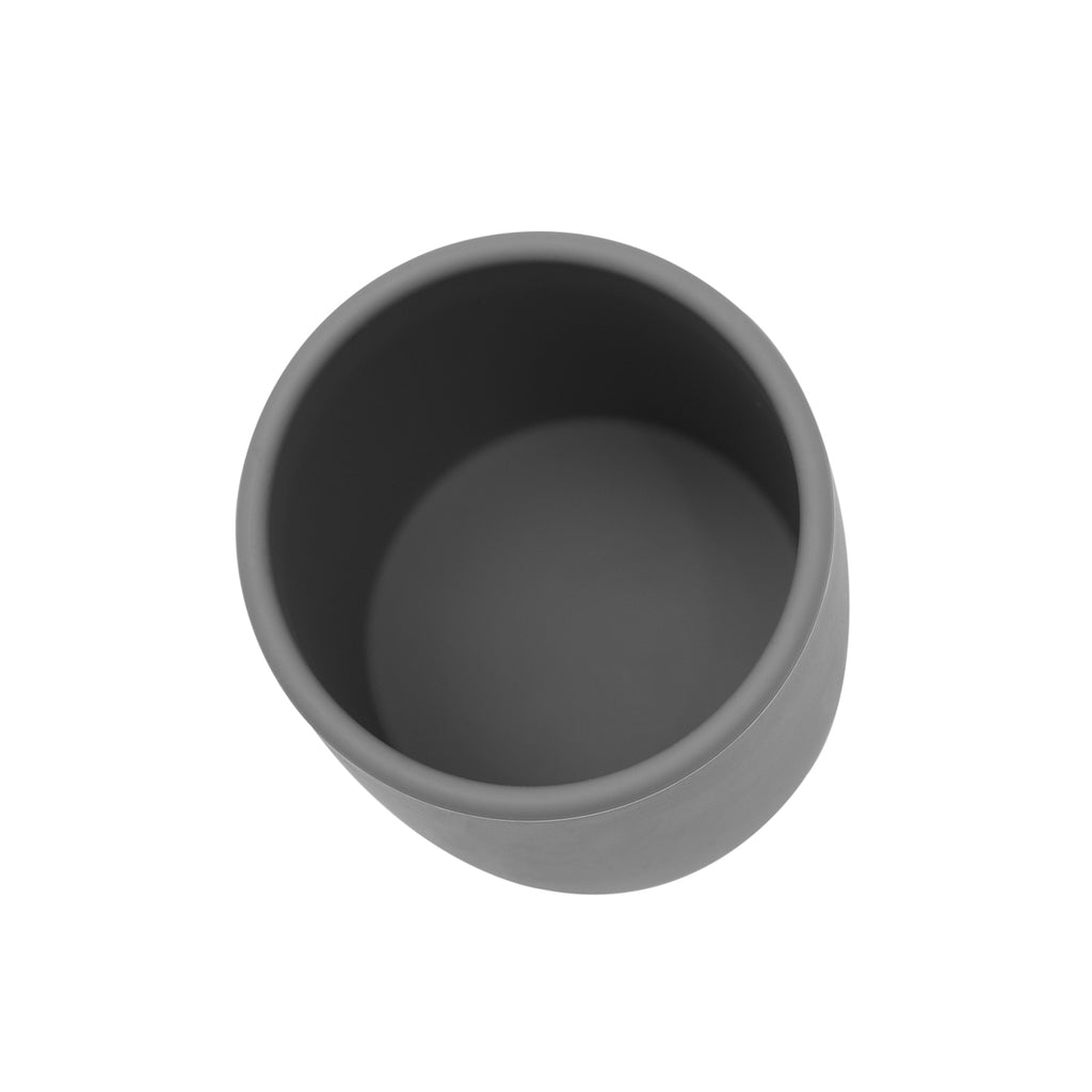 Inside grey silicone grip cup
