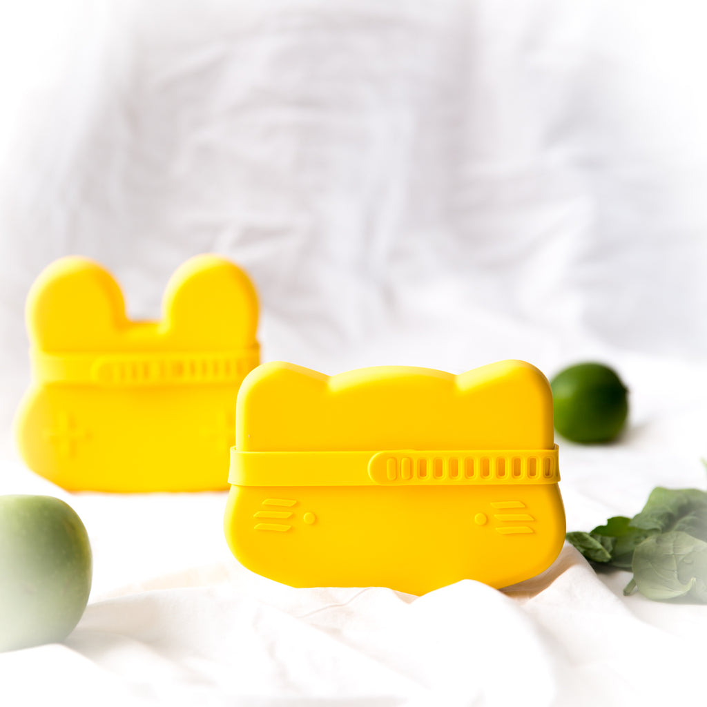 Yellow Snack container for children - Cat shaped