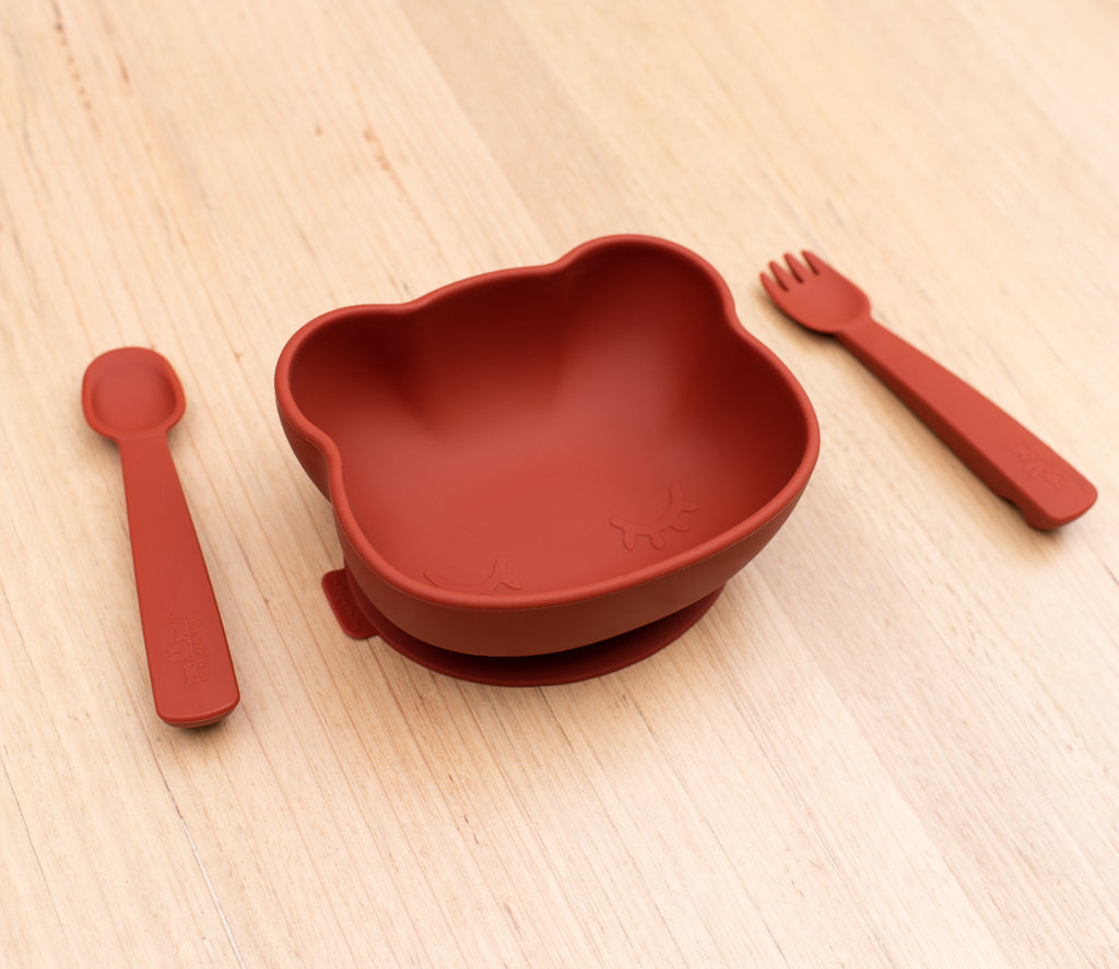 Feedie Fork & Spoon Set - Rust
