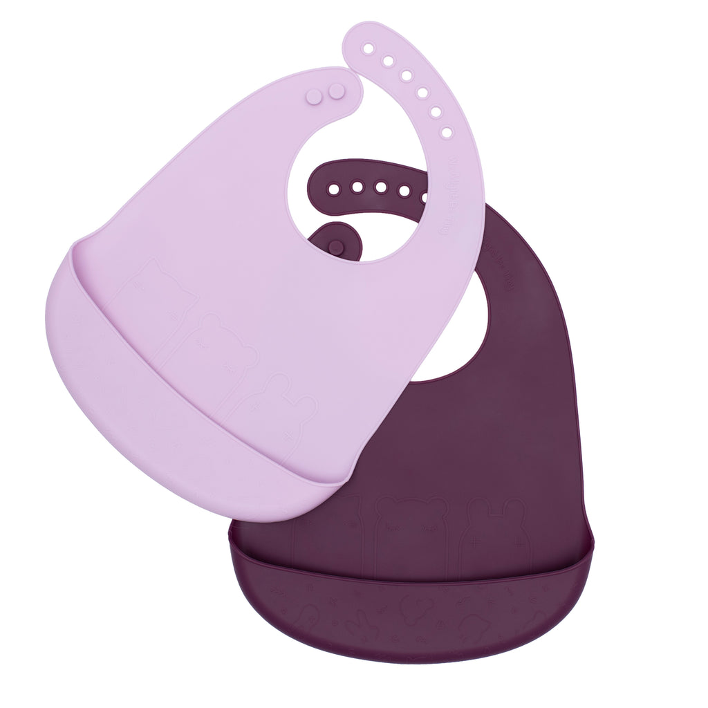 Catchie Bibs™ - Plum + Lilac