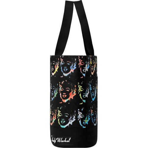 Warhol Coated Canvas Tote - Marilyn Reversal Black
