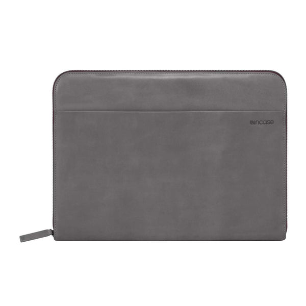 Leather Sleeve for 13 inch MacBook - Dark Grey/Port