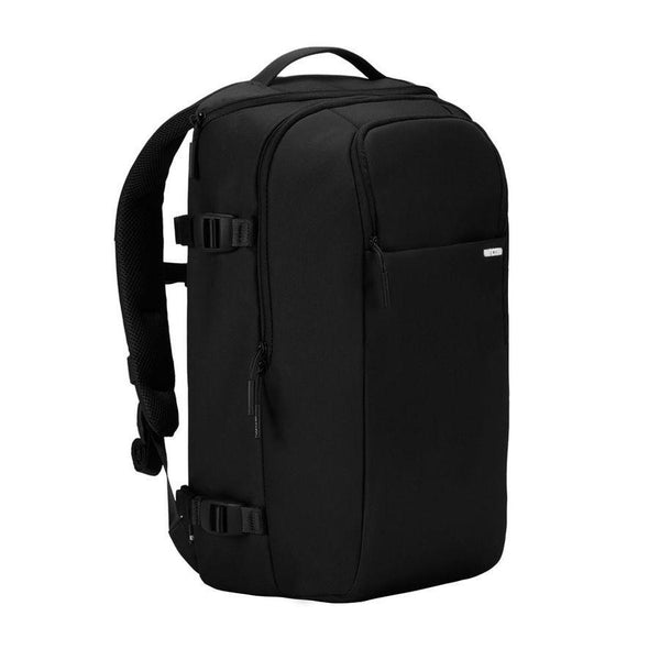Black Camera bag with side straps for tri pods