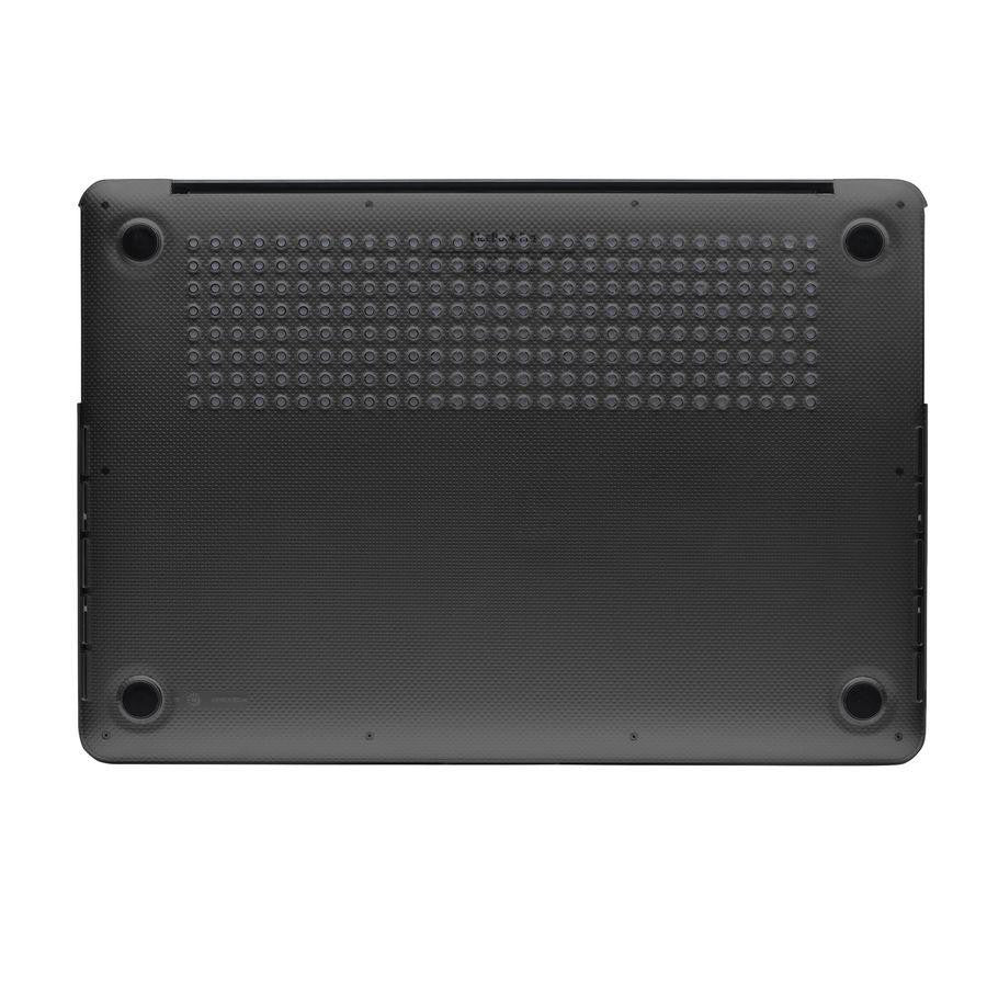 Black MacBook Hardshell Case with bottom vents and rubber feet