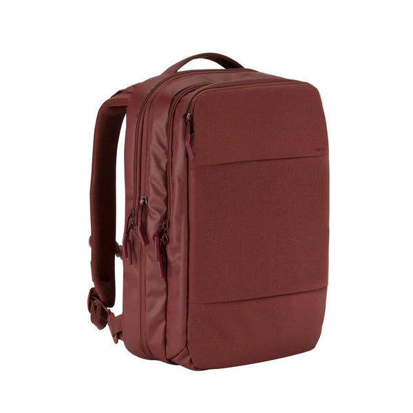 City Commuter Backpack - Deep Red