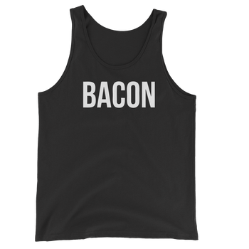 MINIMALIST BLACK BACON TANK Cottondish