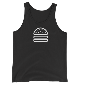MINIMALIST BLACK BURGER TANK Cottondish
