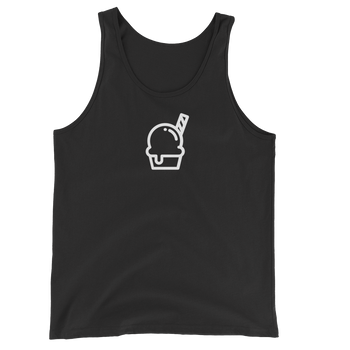 MINIMALIST BLACK ICE CREAM TANK Cottondish