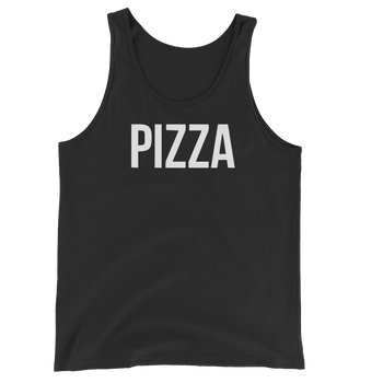 MINIMALIST BLACK PIZZA TANK Cottondish