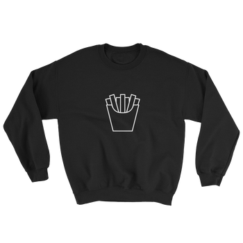 MINIMALIST UNISEX BLACK FRIES SWEATER Cottondish
