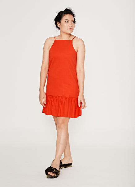 ZARA Basic One in a Vermilion Side View