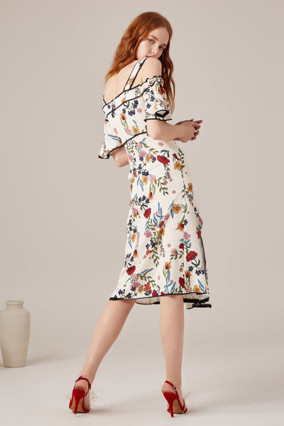 Entitle Midi Dress in White