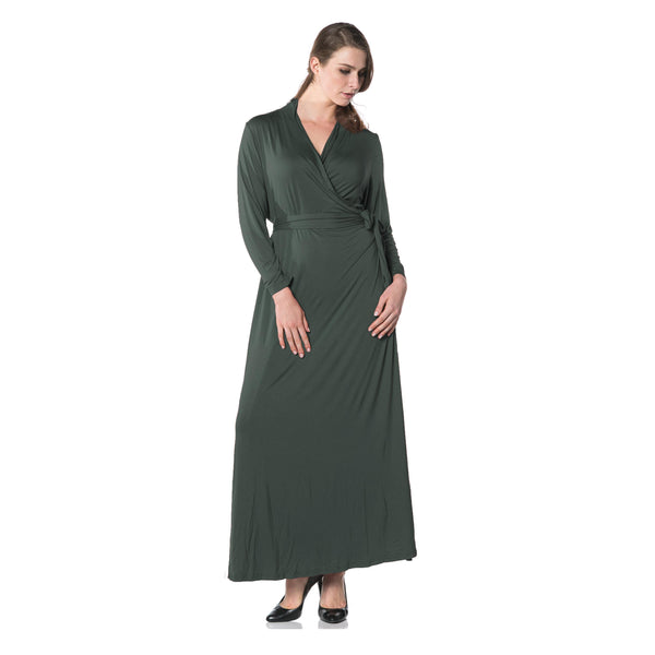 Oprah Wrap Dress in Green