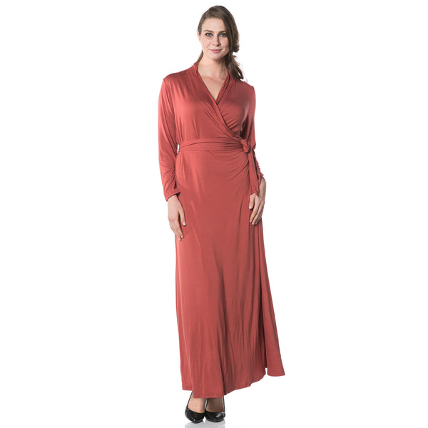 Oprah Wrap Dress in Terracotta