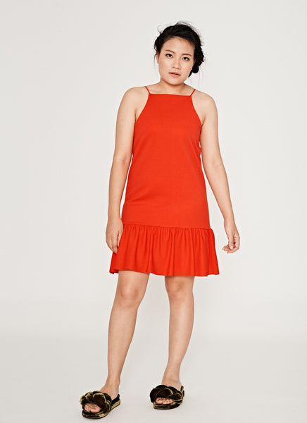 ZARA Basic One in a Vermilion Front View