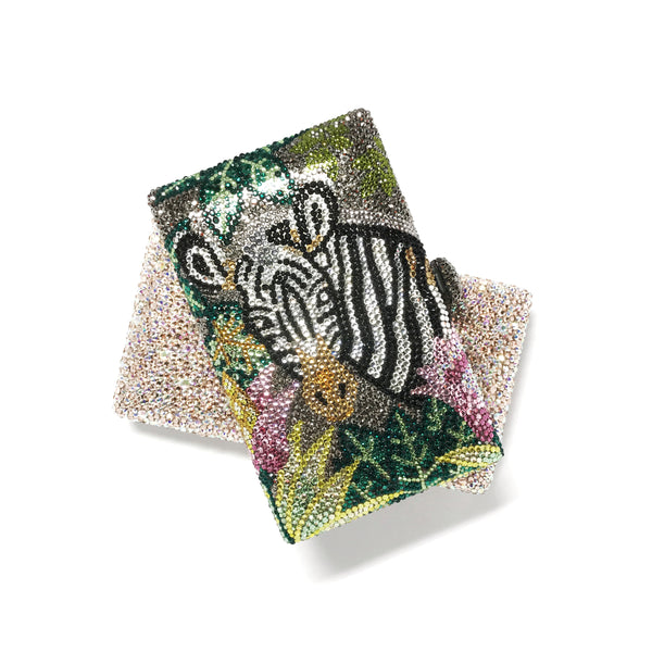 Minaudière Clutches - Tropical Vibes x Hustle Hard Girl (Zebra)