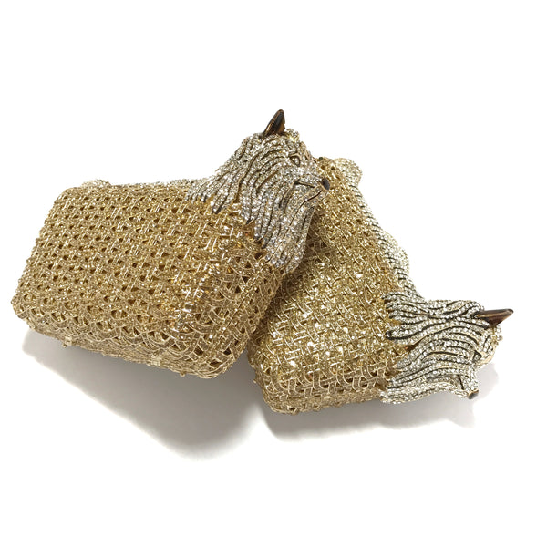 Novelty Clutches - Terrier (Gold)