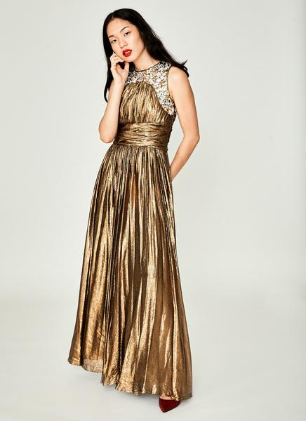 Gold Lamé Gown