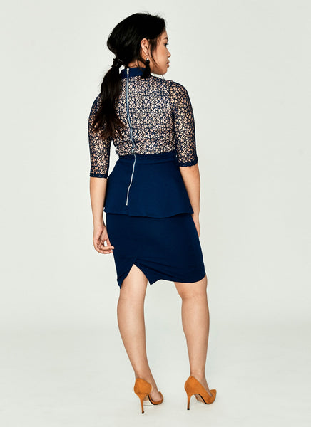 Dauzea Dress (Navy)