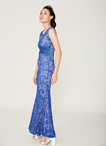 Beaded Electric Gown
